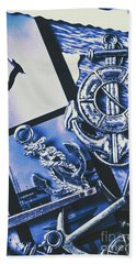 Sail Anchors And Boat Buoys  Beach Towel