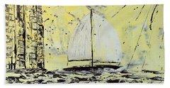 Sail And Sunrays Beach Sheet by J R Seymour