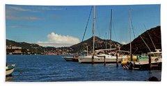 Sail Boat Beach Towel by Gary Wonning