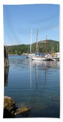 Sail Boats At Pender Horbour Beach Towel