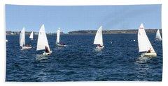 Sail Maine Sailing School, Portland, Maine Beach Towel by Patricia E Sundik