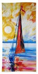 Sail Sail More Beach Towel