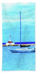 Sailboat At Rest Beach Towel