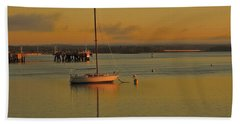 Sailboat Glow Beach Towel