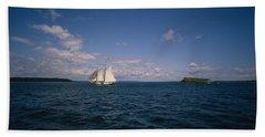 Sailboat In The Sea, St. Maarten Beach Towel