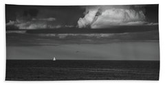 Sailboat Into A Storm Beach Towel