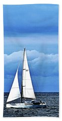 Sailboat No. 143-1 Beach Towel by Sandy Taylor