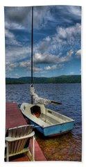 Sailboat On First Lake Beach Sheet