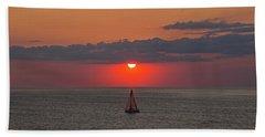 Sailboat Sunset Beach Sheet