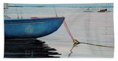 Sailboat Tied Beach Sheet