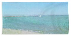 Sailboats At West Wittering Beach Towel