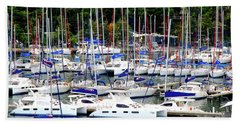 Sailboats Beach Sheet