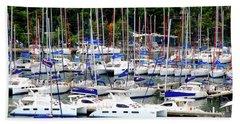Sailboats Beach Sheet