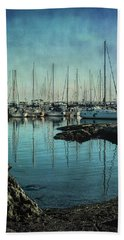 Marina - Digitally Textured Beach Towel by Marilyn Wilson