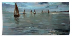 Sailboats On The Chesapeake Bay Beach Sheet