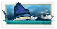 Sailfish Beach Towel by Scott Ross