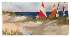 Sailing Along Beach Towel