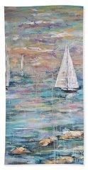 Sailing Away 1 Beach Towel