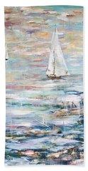 Sailing Away 2 Beach Towel