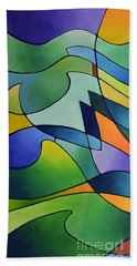 Sailing Away, Canvas One Beach Towel by Sally Trace
