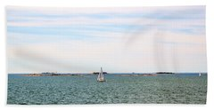 Sailing Boats In Summer Beach Towel