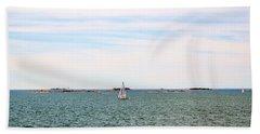 Sailing Boats In Summer Beach Sheet