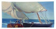 Sailing Boats Beach Towel