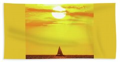 Beach Towel featuring the photograph Sailing In Hawaiian Sunshine by D Davila
