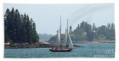 Sailing In Maine Beach Towel