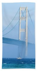 Sailing In The Fog Beach Towel