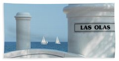 Sailing Las Olas Beach Towel