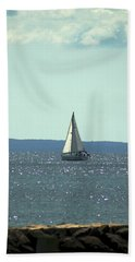 Sailing On Crystal Sound Beach Towel