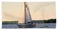 Sailing On Lake Murray Sc Beach Towel
