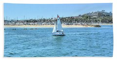 Sailing Out Of The Harbor Beach Towel