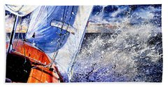Beach Towel featuring the painting Sailing Souls by Hanne Lore Koehler