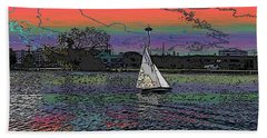 Sailing South Lake Union Beach Towel by Tim Allen