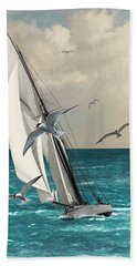 Sailing Southern Seas Beach Towel