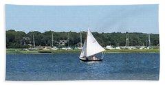 Sailing The Cape Beach Towel