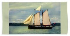 Sailing The Sunny Sea Beach Towel