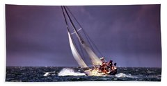 Sailing To Nantucket 001 Beach Towel