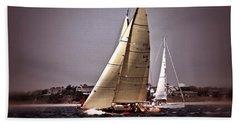 Sailing To Nantucket 005 Beach Towel