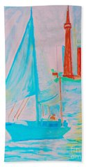 Sailing Toronto, Canada Beach Towel