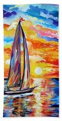 Sailing Towards My Dreams Beach Sheet