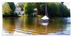 Beach Sheet featuring the photograph Sailor's Rest by Betsy Zimmerli