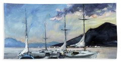 Sails 4 - Lake Como Beach Sheet by Irek Szelag