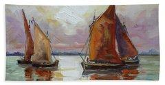 Sails 6 Beach Towel by Irek Szelag