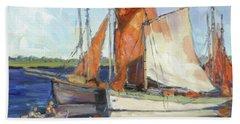 Sails 9 Beach Towel by Irek Szelag