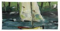 Sails And Sails Beach Towel