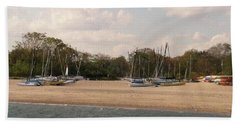 Sails Ashore Beach Towel