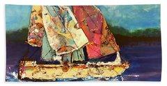 Sails Away Beach Towel